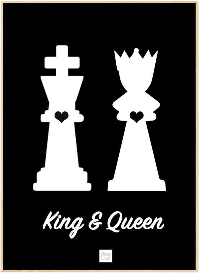 King & Queen Plakat Desagraf