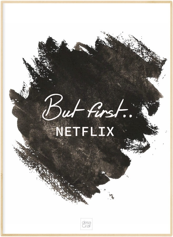 But first Netflix poster plakat desagraf