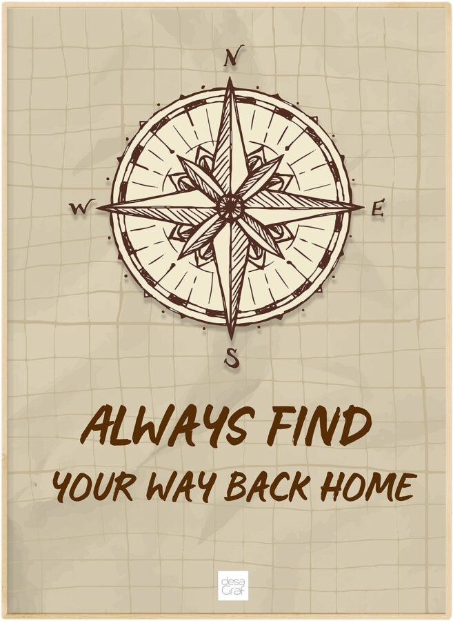 always find your way back home poster plakat