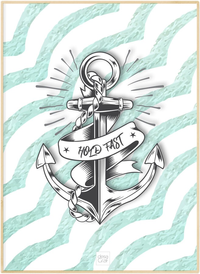 Hold Fast anker anchor poster
