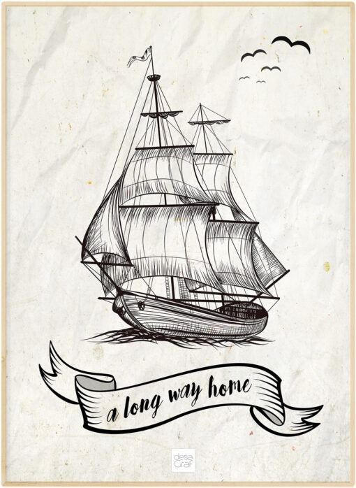 Ship a long way home poster plakat