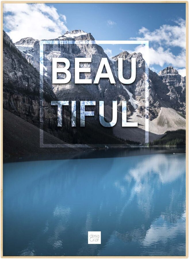 "Realistisk natur plakat ""Beautiful"""