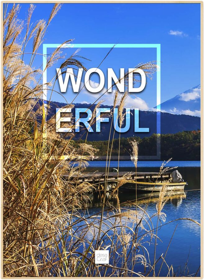 "Realistisk natur plakat ""wonderful"""