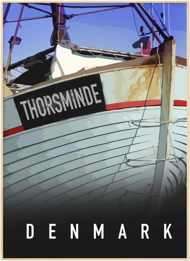 Thorsminde havn by plakat