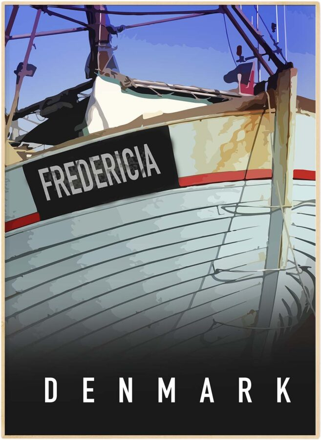 Fredericia havne by plakat