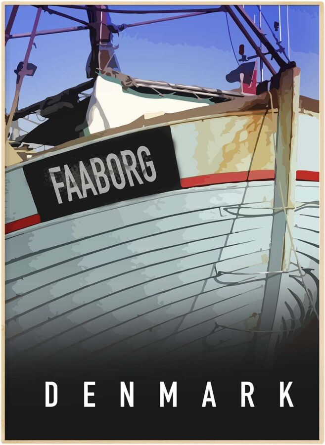 Faaborg havne by plakat