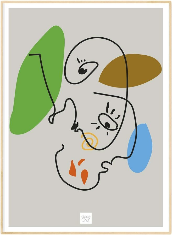 Pablo Picasso inspireret - Plakat